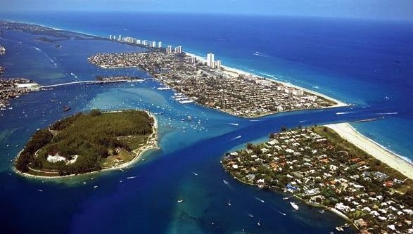 Palm Beach Shores waterfront homes for sale